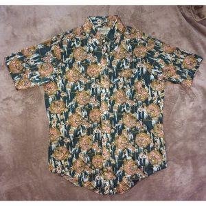 1960s Vintage button down collared t-shirt k mart